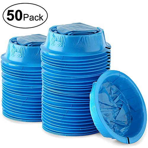 ATDAWN 50 Pack Emesis Bag, Disposable Vomit Bags, Aircraft & Car Sickness Bag, Nausea Bags for Travel Motion Sickness (50 Pack) -