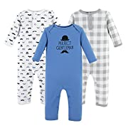 Hudson Baby Baby Cotton Union Suit, 3 Pack, Gentleman, 3 Months