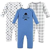 Hudson Baby Boys' Cotton Union Suit, 3 Pack