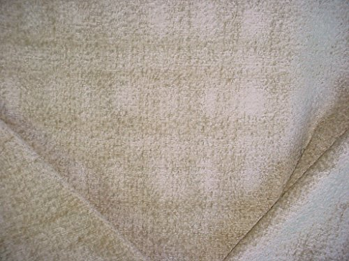 158RT6 - Oatmeal / Silvery Beige Plush Textured Chenille Designer Upholstery Drapery Fabric - By the ()