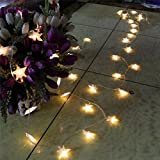 4M 40 LED Battery Powered Fairy string light,Five-pointed Star String Lights for Chrismas, Party, Wedding, New Year, Garden Décor (Warm White)