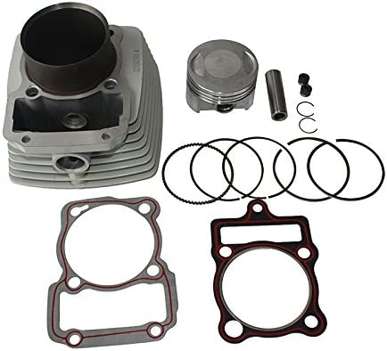67mm Cylinder Body Assembly with Pistons Gaskets Rings Kit Set for 250cc CG250 Air Cooled ATV Quad Dirt Bike Off Road