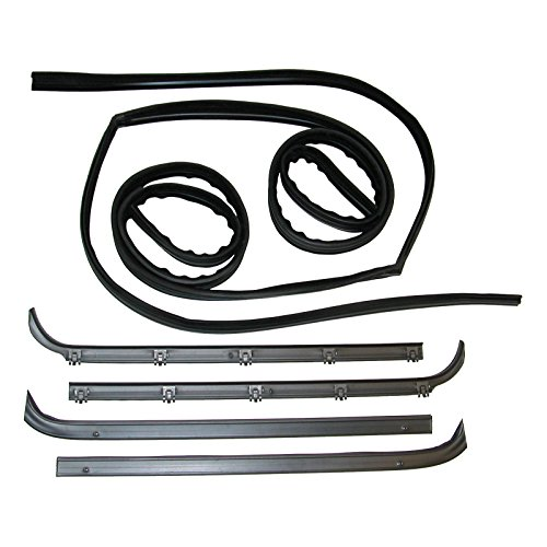 Make Auto Parts Manufacturing Set of 6 Driver and Passenger Side Outer and Inner Window Sweep & Run Channel Weatherstrip Seals Kit Rubber For Ford Bronco / F100 / F150 / F250 / F350 1980-1986