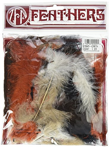 Zucker Feather (TM) - Loose Turkey Marabou Mix Dyed - Earth Mix