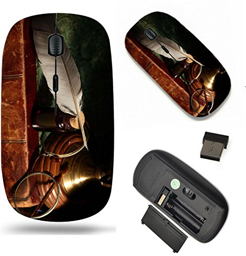 MSD Wireless Mouse Travel 2.4G Wireless Mice with USB Receiver, Noiseless and Silent Click with 1000 DPI for notebook, pc, laptop, computer, mac book design 25440465 Vintage still life with - Spectacles For Vintage Sale