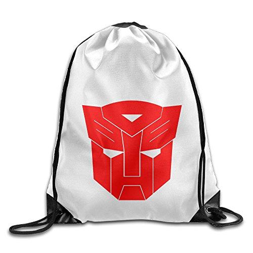Bekey Transformers Live Logo Drawstring Backpack Sport Bag For Men & Women For Home Travel Storage Use Gym Traveling Shopping Sport Yoga Running (Resident 5 Wii Edition Evil)