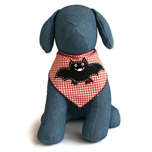 Image of Halloween Dog Bandana with Count Batcula Applique 100% Cotton (Medium)