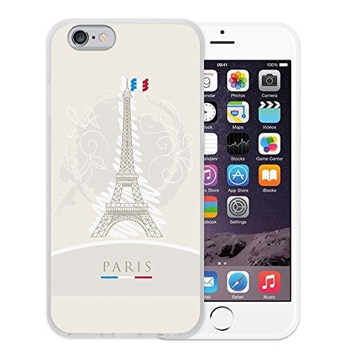 WoowCase Hülle Case für { iPhone 6 6S } Handy Cover Schutzhülle Eiffelturm und Frankreichsfahne