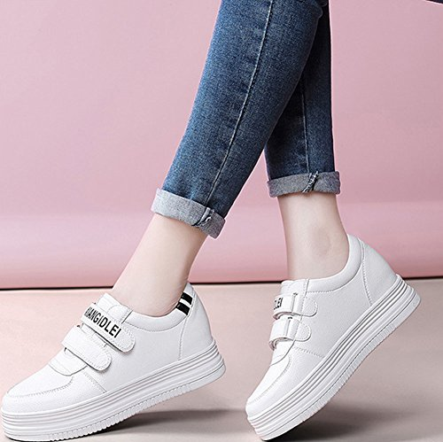 Verano Fondo Plano Mujeres Primavera Mujer Zapatillas Tamaño De color Otoño Deporte Mujer 2018 40 Blanco Zapatos Invierno Casuales qp8Pwpn4