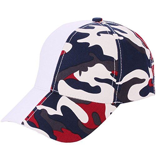SPE969 Camouflage Stitching Baseball Cap Women Men Adjustable Mesh Hat,A,B]()