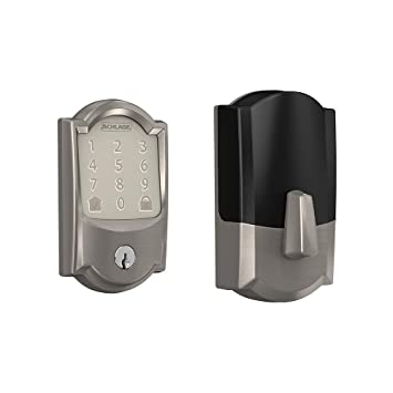 BE489WB CAM 716 Schlage Encode Smart WiFi Deadbolt with Camelot Trim in Aged Bronze