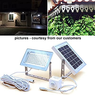 GUARDIAN 580X Solar Security Floodlight with Standalone PIR Motion Sensor and Lithium Battery, 730 Lumen Full Brightness, 3 Lighting Modes