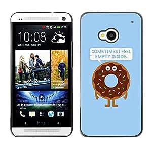 YiPhone /// Prima de resorte delgada de la cubierta del caso de Shell Armor - Quote Doughnut Food Cooking - HTC One M7