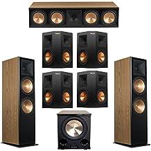 Klipsch 7.1 Cherry System with 2 RF-7 III Floorstanding Speakers, 1 RC-64 III Center Speaker, 4 Klipsch RP-250S Surround Speakers, 1 Klipsch PL-200II Subwoofer