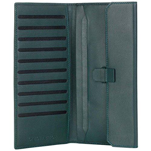 David Hampton Green Label Leather Travel Wallet Green by David Hampton