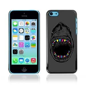YOYOSHOP [Cool Neon Teeth Shark Illustration] Apple iPhone 5C Case
