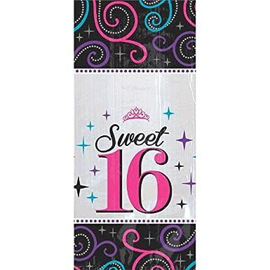Amscan Sweet 16 Celebration 20 Plastic Bags With Twist Ties