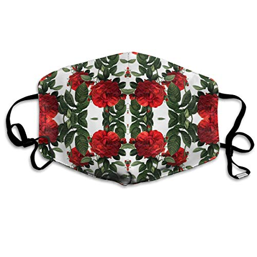 Roses Riot of Red Dust Mask,Washable and Reusable Cleaning Gardening Mask,for Allergens,Exhaust Gas,PM2.5, Running, Cycling, Outdoor Activities Warm Windproof Mask (Ski Riot)