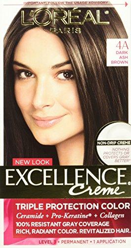 - L'Oreal Paris Excellence Creme, 4A Dark Ash Brown