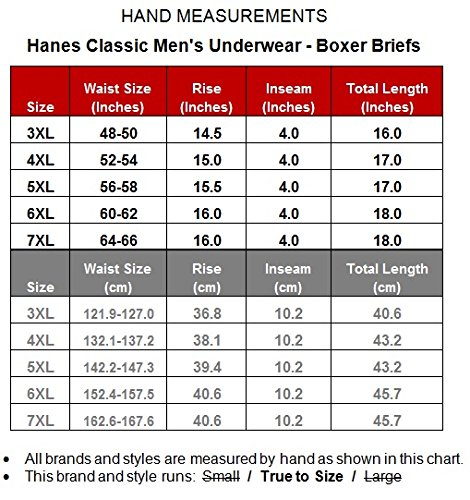 Hanes big men s underwear cotton boxer briefs 6 pack at amazon