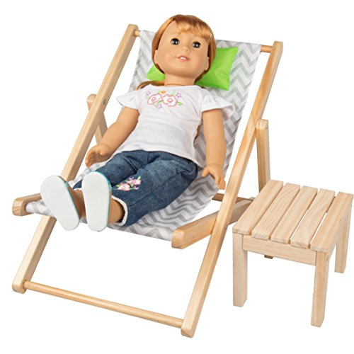 Dress Along Dolly Lounge Chair and Table Set for American Girl and 18