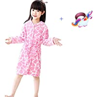 NOUSION Children's Unisex Hooded Bathrobes, Nightgown Flannel Pajamas Robe Unicorn Boys Girls Sleepwear