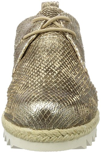 Caprice 23701, Zapatos de Cordones Oxford para Mujer Marrón (Taupe Metallic)