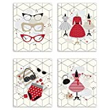 Retro fashion is every bubbly girl's favorite style! These adorable prints of vintage glasses and dresses are a perfect addition to any walk-in closet, craft room and bedroom. The light, popping colours are a fabulous eye catcher and make you...