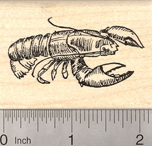 Lobster Rubber Stamp, Crustaceans, Seafood, Clawed