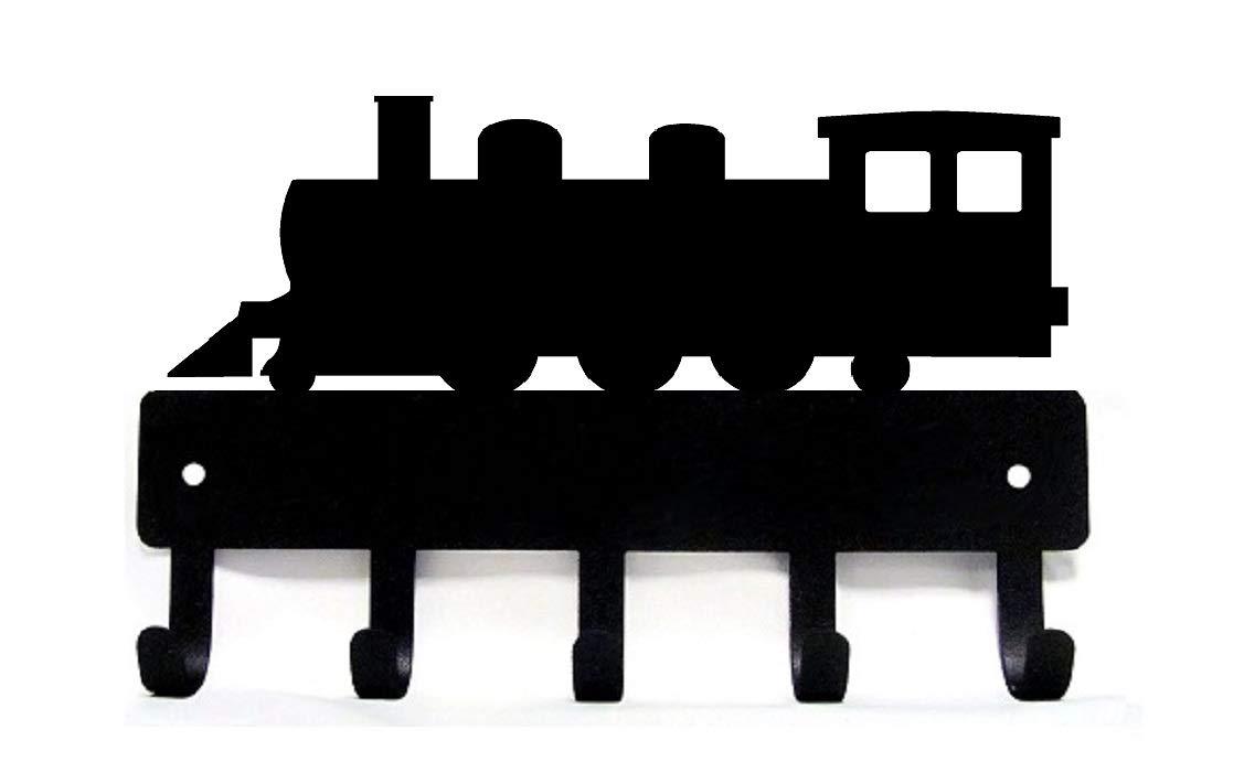 The Metal Peddler Train Key Rack Hanger - Large 9 inch Wide