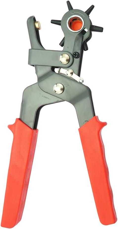 Exceart Cinturón de Cuero Perforadora Alicates Giratorio ...