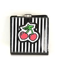 Gothic Cherry Bifold Punk Rockabilly Punk Wallet Black Pink & Red
