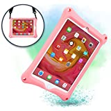 COOPER BOUNCE STRAP Shoulder Strap Rugged Case compatible with Apple iPad Air 2, iPad Pro 9.7   Shock Proof Heavy Duty Cover with Stand, Hand Strap   Kids Adults Girls   A1673 A1674 A1566 A1567 (Pink)