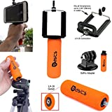 AccessoryBasics SNAP-II Universal Smartphone Holder Mini Hand Grip Stabilizer with 1/4-20 Connection & GOPRO Tripod Adapter for Apple iphone 6 Plus / 6 6s 5s Samsung Galaxy S6 S5 Edge Note 5 4 3 HTC ONE & GoPro Hero 4 3 Silver/Black Camcorder