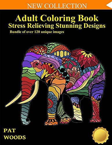 Adult Coloring Book: Stress Relieving Stunning Designs: 120 Unique Images (Stress Relieving Designs)