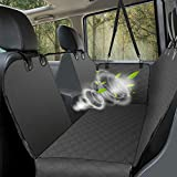 UPSKY Dog Car Seat Cover Luxury Pet Seat Cover with Mesh Window, Side Flap, 4 Straps, 600D Heavy Duty Waterproof Scratch Proof Nonslip Pet Seat Cover Hammock for Cars SUVs and Trucks