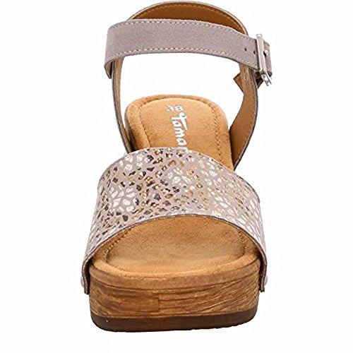 Tamaris 1-28036-28 Sandalias para mujer Beige