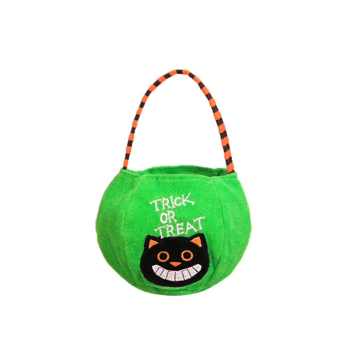 Halloween Trick Treat Candy Bags Kids Cute Tote Bags Party Storage Large Bags (D)