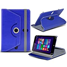 "ONX3® HP Stream 7 7"" Inch Rotating 360 Luxury PU Leather Spring Stand Cover - Various Colours (Blue)"