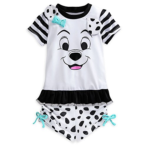 Disney 101 Dalmatians Rash Guard Set for Girls Size 3 White