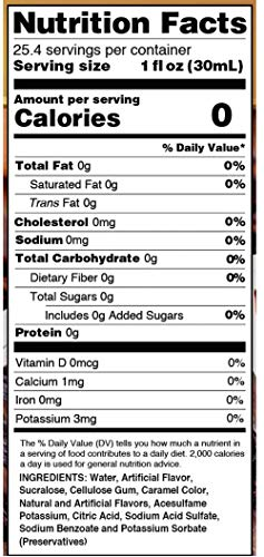 Jordan's Skinny Syrups Cinnamon Dolce, Sugar Free Flavoring Syrup, 25.4 Ounce Bottle