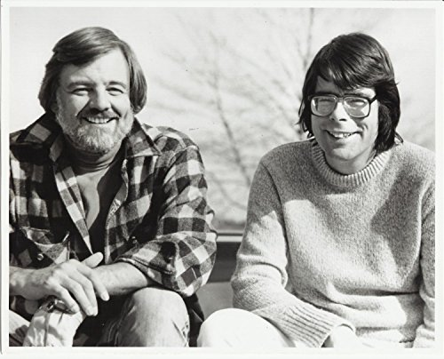 Stephen King and George Romero with Big Smiles Seated Together 8 x 10 Photo