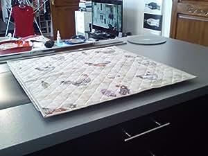 JOJO la cigale–Protege placa de cocinado sobre medida Bruyere Coloris Lin–87cm, 63cm