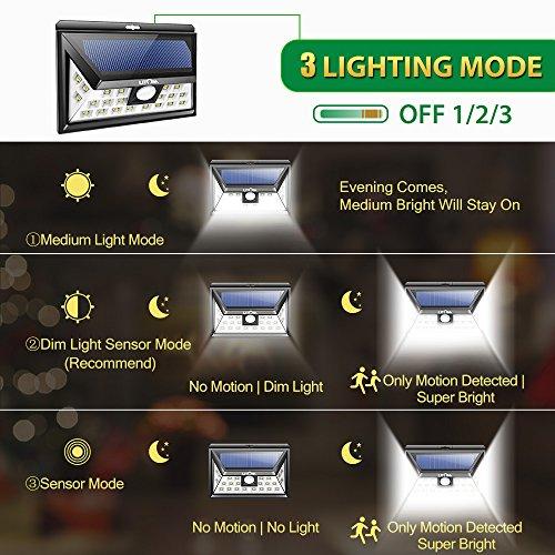 LITOM 24 LED Solar Lights Outdoor, Easy-to-install