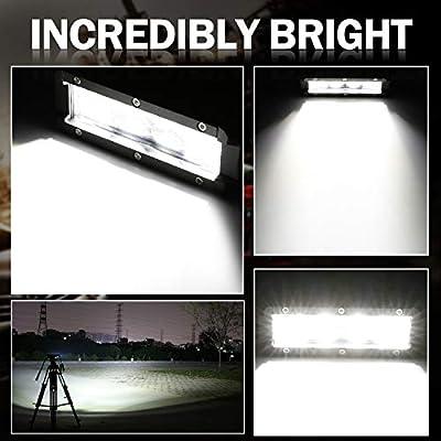 LED Light Bar, AKD Part 2Pcs 5 Inch 72W LED Work Light OSRAM Spot Flood Combo Pods Off Road Driving Lights Dual Row Super Slim Fog Lamps Waterproof for Truck Motorcycle Jeep UTV ATV: Automotive