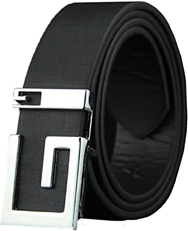 Mr.Macy Men Leather Smooth Girdle Buckle Waistband Waistband Leisure Belt Strap