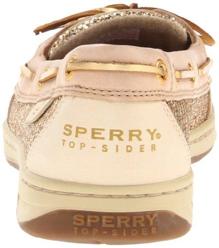 Sperry Women S Angelfish Linen Gold Glitter 7 5 M Womens