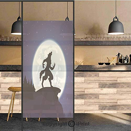 3D Decorative Privacy Window Films,Full Moon Night Sky