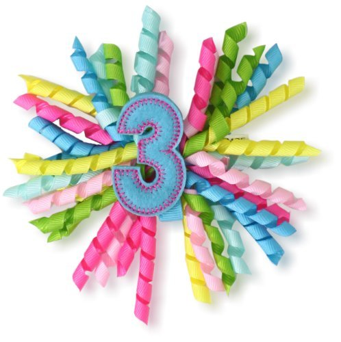 Pie Styles Mud (Mud Pie Baby-Girls Newborn Third Birthday 3-In-1 Bow, Multi Colored, One Size)