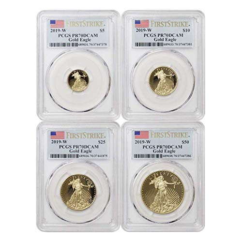 Gold American Eagle Coin Set - 2019 W American Gold Eagle 4-Coin Set PR70DCAM First Strike